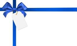 Blue ribbon bow. On white background Royalty Free Illustration
