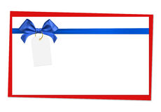 Blue ribbon bow. On white background Royalty Free Stock Photos