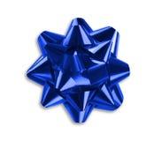 Blue ribbon bow Royalty Free Stock Photography