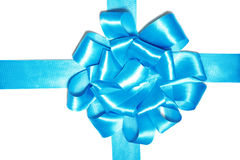 Blue ribbon for box Royalty Free Stock Image