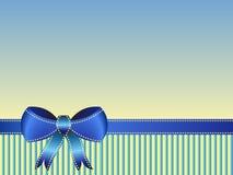 Blue ribbon card Royalty Free Stock Image