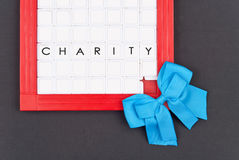Blue Ribbon Charity Royalty Free Stock Photography