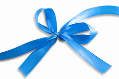 Blue ribbon with clipping path Royalty Free Stock Image