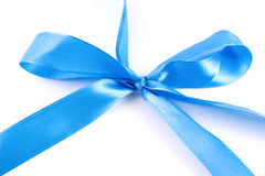 Blue ribbon with clipping path Stock Images