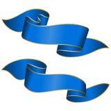Blue ribbon collection Stock Photos
