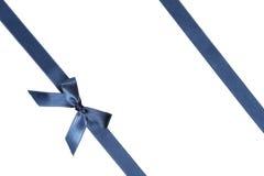 Blue Ribbon con el arco en el fondo blanco Imagen de archivo