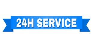 Blue Ribbon con título del SERVICIO 24H stock de ilustración