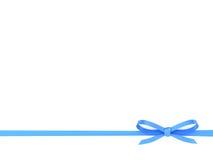Blue Ribbon con un arco Fotografía de archivo