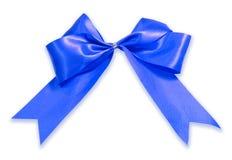 Blue ribbon cutout Royalty Free Stock Image