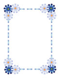 Blue ribbon frame Stock Photos