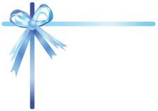 Blue ribbon, illustration Stock Images