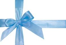 Blue ribbon isolated on white Stock Photos