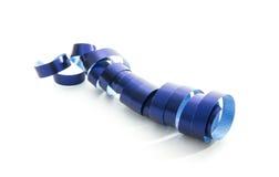 Ribbon. Blue ribbon isolated on white background Stock Photos