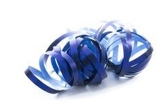 Ribbon. Blue ribbon isolated on white background Stock Images