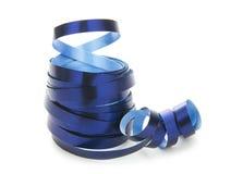 Ribbon. Blue ribbon isolated on white background Royalty Free Stock Image