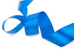 Blue ribbon isolated Stock Image
