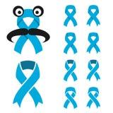 Blue ribbon - prostate cancer symbol Royalty Free Stock Image