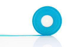 Blue ribbon Roll isolated Royalty Free Stock Photography