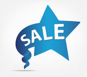 Blue ribbon with SALE text Stock Photography