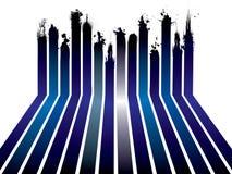 Blue ribbon splat Royalty Free Stock Photography