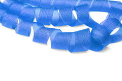 Blue ribbon twisted spiral. Royalty Free Stock Photography