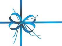 Blue ribbon on white Royalty Free Stock Photos