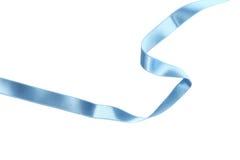 Blue ribbon on white background. Stock Image