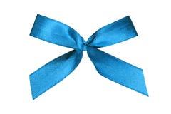 Blue ribbon on white background royalty free stock image