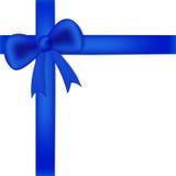 Blue ribbon on white box Stock Photo