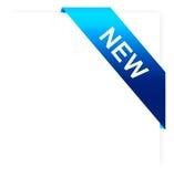 Blue ribbon on white paper Royalty Free Stock Image