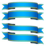 Blue ribbons Royalty Free Stock Photography