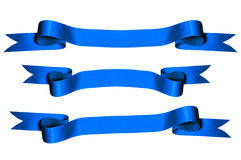 Blue Ribbons Royalty Free Stock Photo