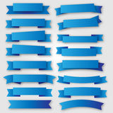 Blue ribbons and banners vector. Eps10 Royalty Free Stock Photos