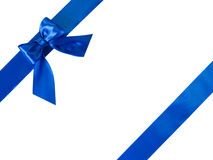 Blue ribbons with bow Royalty Free Stock Image
