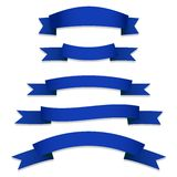 Blue Ribbons Flags Stock Images