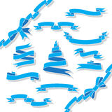 Blue ribbons Stock Image