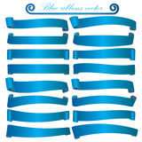 Blue ribbons vector. Cute,eps10 Royalty Free Illustration