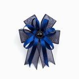 Blue ribbons winner bows. Royalty Free Stock Photos