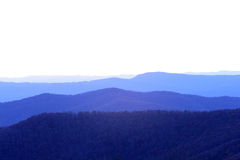 Blue ridge. View of blue ridge mountains from skyline drive Stock Image