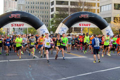 Blue Ridge Marathon – Roanoke, Virginia, USA Stock Images