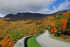 Blue Ridge Mountain Autumn Colors Stock Images