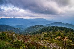 Blue Ridge Mountain Horizon Stock Image