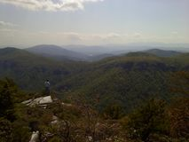 Blue Ridge Mountain at Linville Gorge Lonely Man Royalty Free Stock Photography
