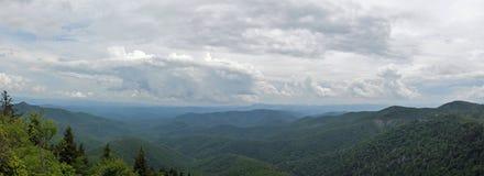 Blue Ridge Mountain Panorama stock images