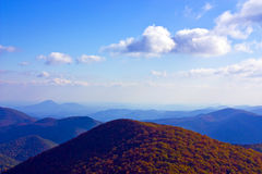 Blue Ridge Mountain Range Royalty Free Stock Photography