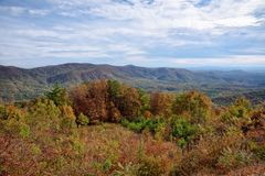 Blue Ridge Mountain range in the Chattahoochee National Forest stock image