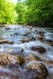 Blue Ridge Mountain River Flow Stock Image