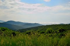 Blue Ridge mountain Scene -0. Mountains in Shenandoah National Park Royalty Free Stock Photos