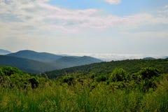Blue Ridge mountain Scene -1. Mountains in Shenandoah National Park Royalty Free Stock Images