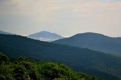 Blue Ridge mountain Scene -1 peak. Mountains in Shenandoah National Park Stock Image